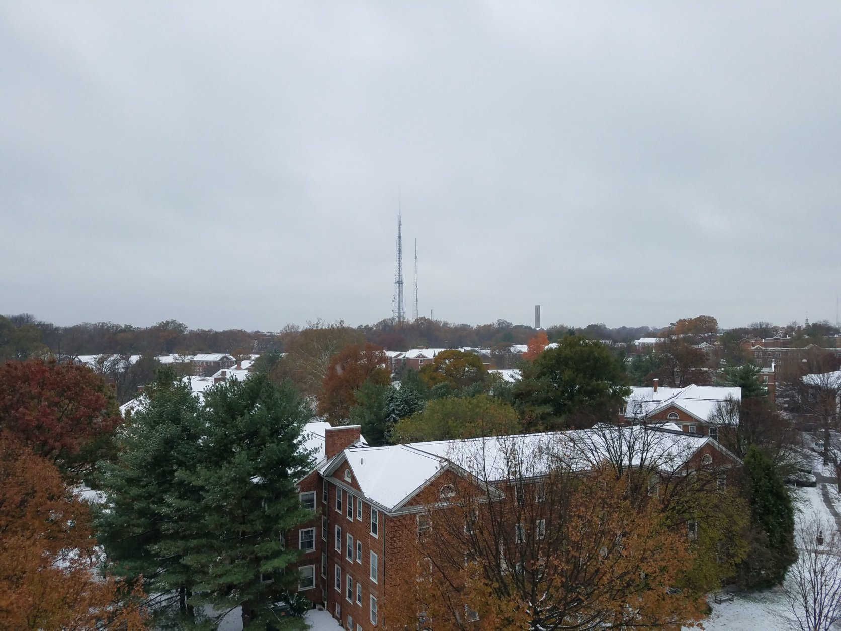 Northwest D.C. as soon from the roof of the Glass Enclosed Nerve Center. (WTOP/Will Vitka)