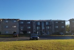 Sixty-four people are displaced when the roof of an apartment building in Dundalk, Maryland, blew off during a storm on Friday, Nov. 2, 2018. (Courtesy Baltimore County Fire Department)