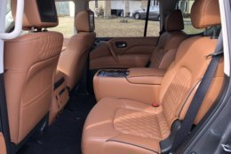 The inside of the Infiniti QX80 offers a plush environment with plenty of space. (WTOP/Mike Parris)