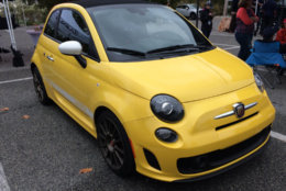 The Fiat 500 Abarth is fun to drive and even smaller than a Mini. (WTOP/Mike Parris)