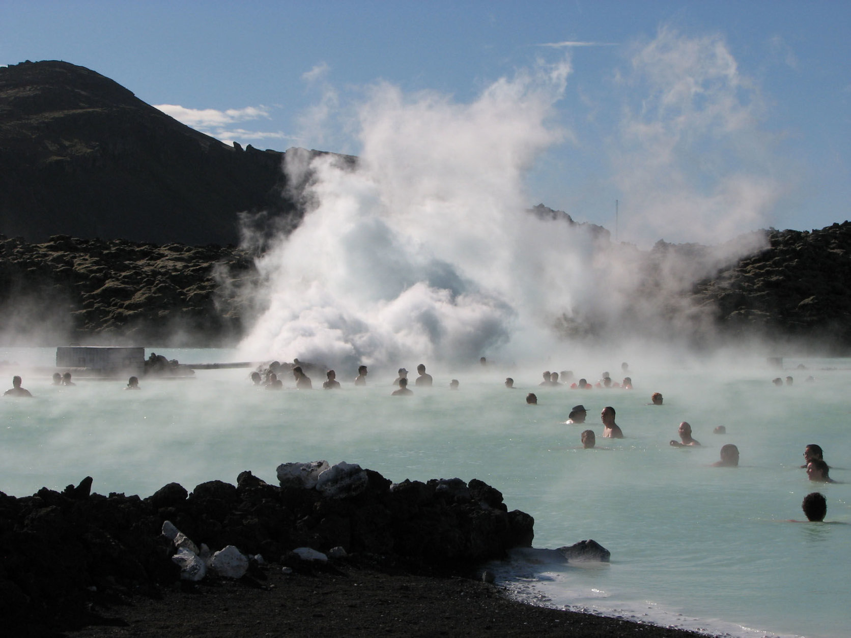 A trip to Iceland wouldn't be complete without a dip in the Blue Lagoon, a man-made geothermal pool on Reykjanes peninsula.  (AP Photo/Tania Fuentez)