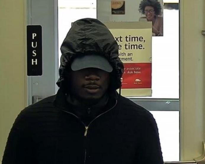 The man whom the FBI is calling the Beltway Bank Bandit, at the Bank of America in Springfield, Va., Oct. 27, 2018. (Courtesy FBI)