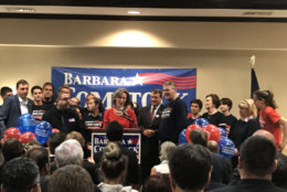 U.S. Rep. Barbara Comstock concedes her race against state Sen. Jennifer Wexton. (WTOP/Kyle Cooper)