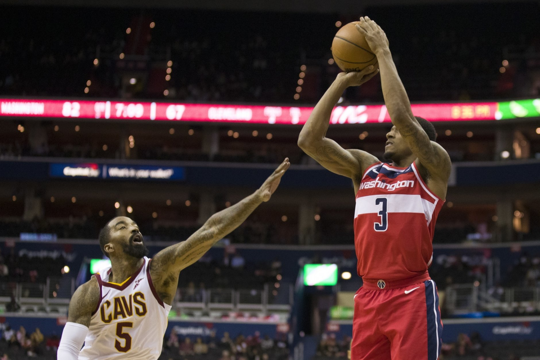 reputable site a4793 47614 Bradley Beal scores 20 points, Wizards rout Cavaliers 119-95 ...