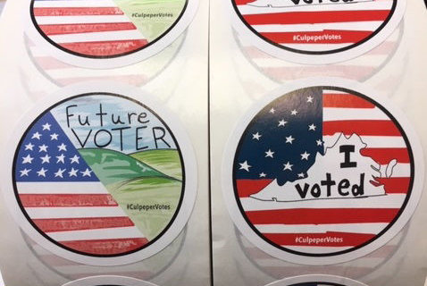 Culpeper County voters will leave polling places with unique stickers