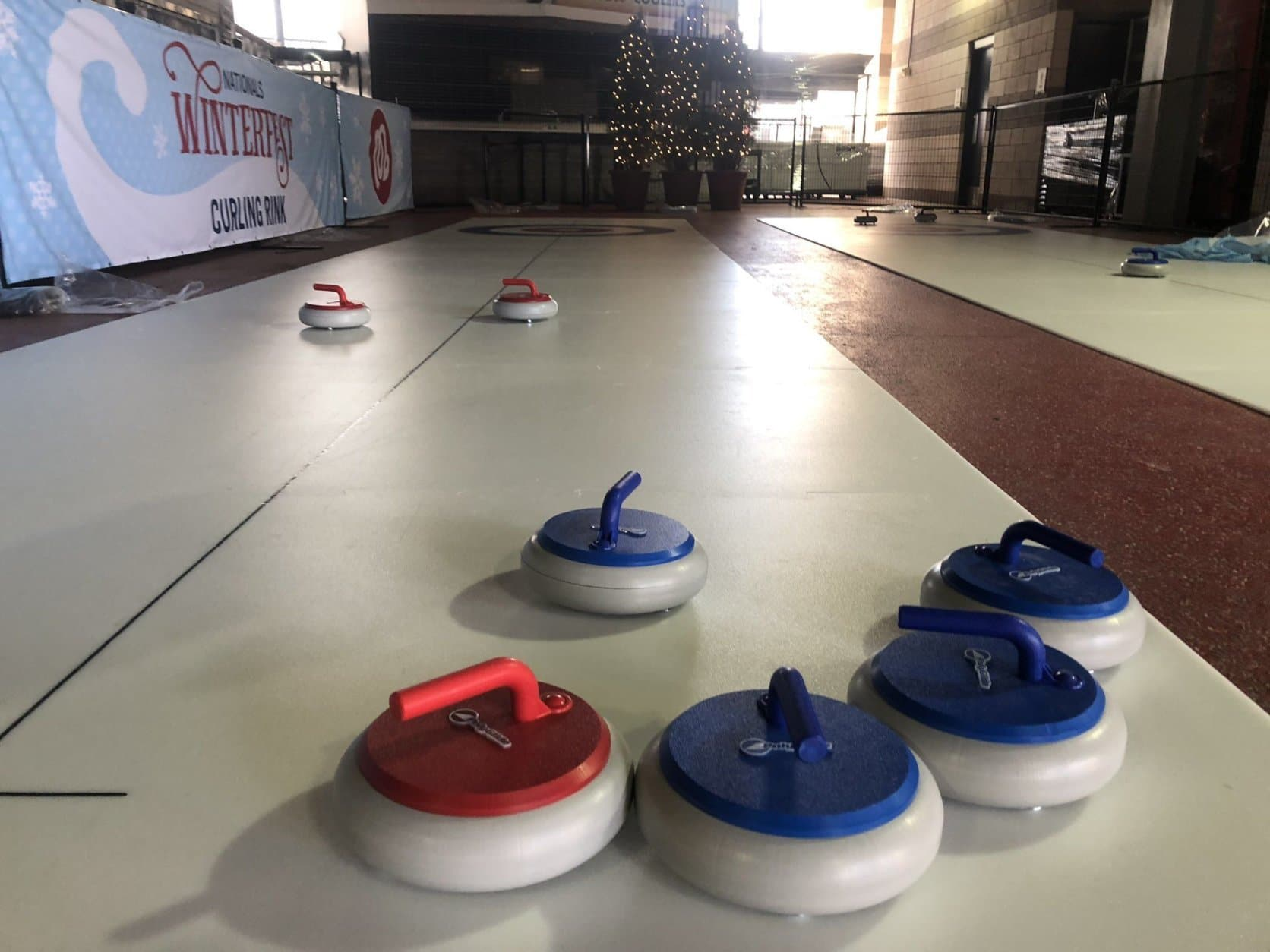 Curling is on the list at Winterfest. (WTOP/Mike Murillo)