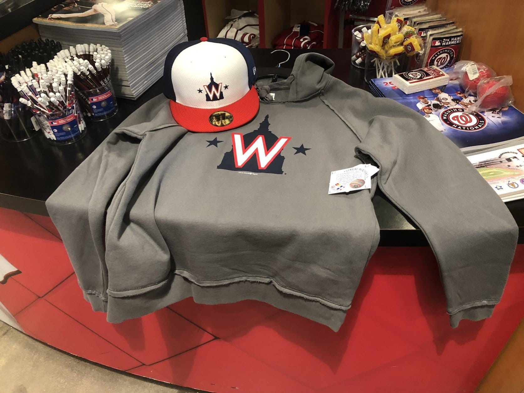 Nationals gear with the 2019 logo will also be available for the first time at Winterfest. (WTOP/Mike Murillo)