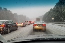 Traffic conditions worsen on Fairfax County Parkway near Springfield. (Courtesy Christopher Phillips @cgphillips2000 via Twitter)