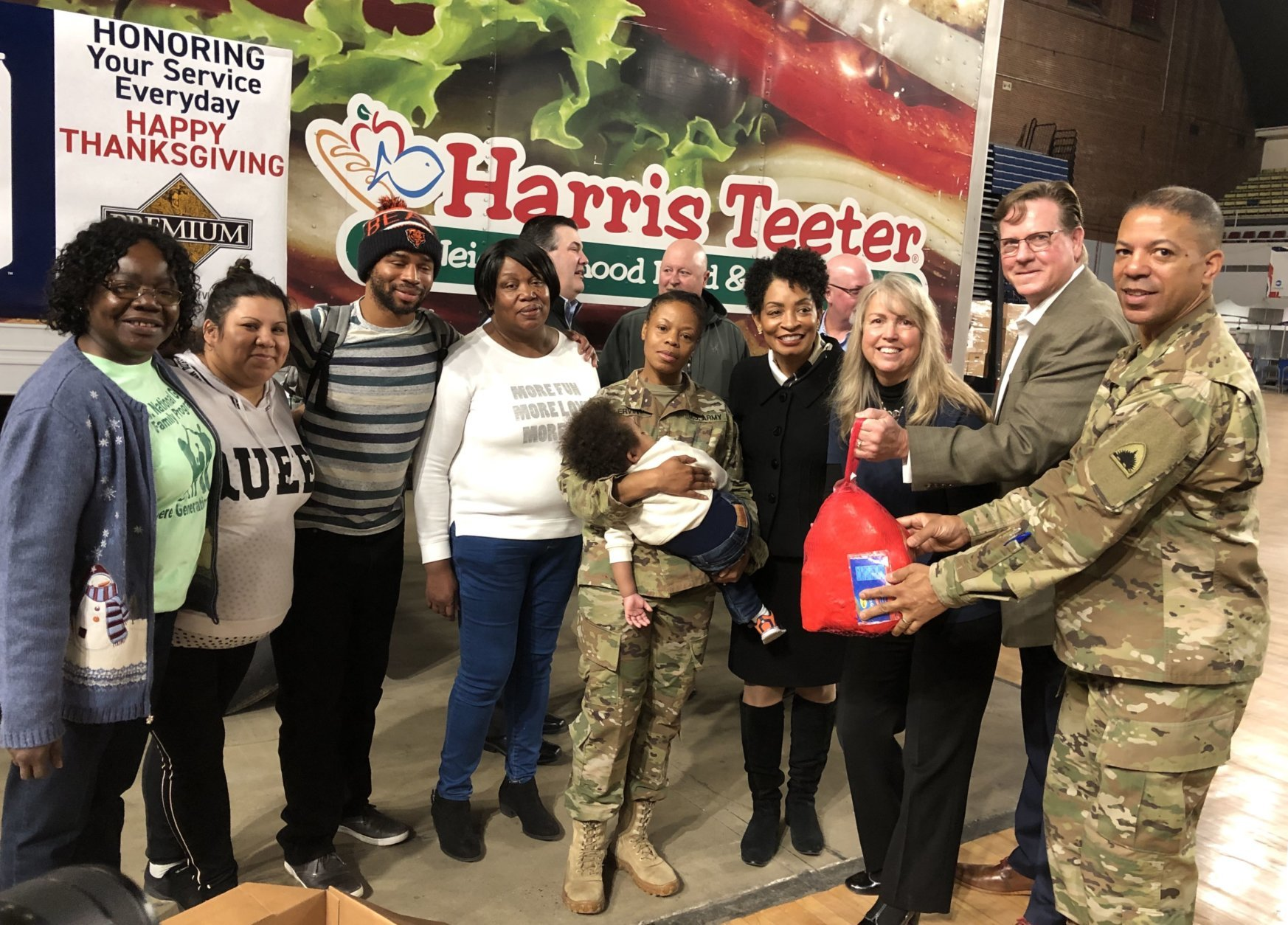 Operation Homefront distributed 400 holiday meals to military families Monday through the Holiday Meals for Military program. (WTOP/Kristi King)