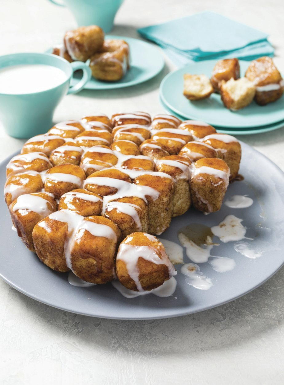 This undated photo provided by America's Test Kitchen in November 2018 shows monkey bread in Boston. (Daniel J. van Ackere/America's Test Kitchen via AP)