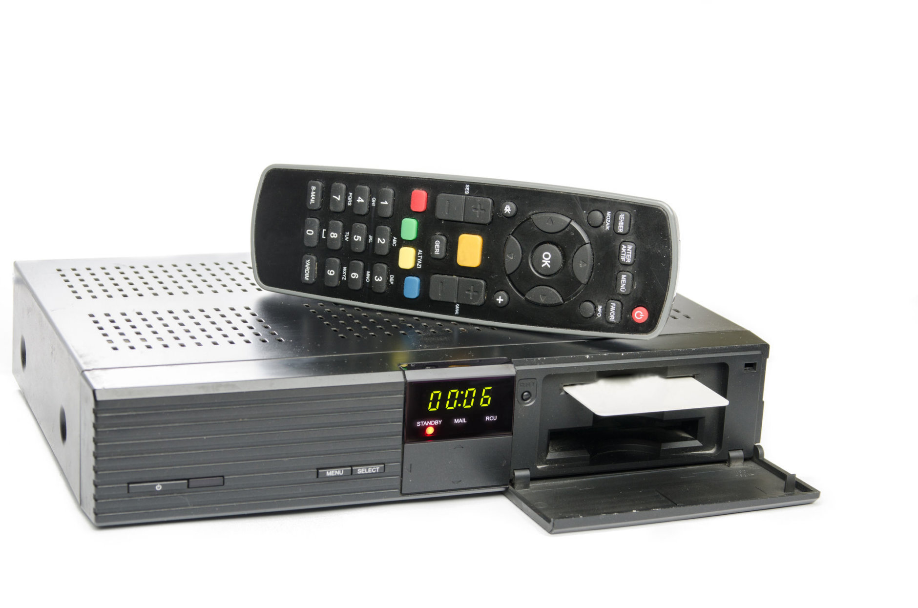 remote and receiver for satellite TV