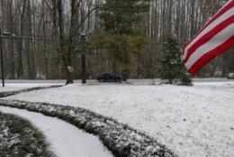 Snow, though not a ton, in Oakton, Virginia. (Courtesy Art Light)