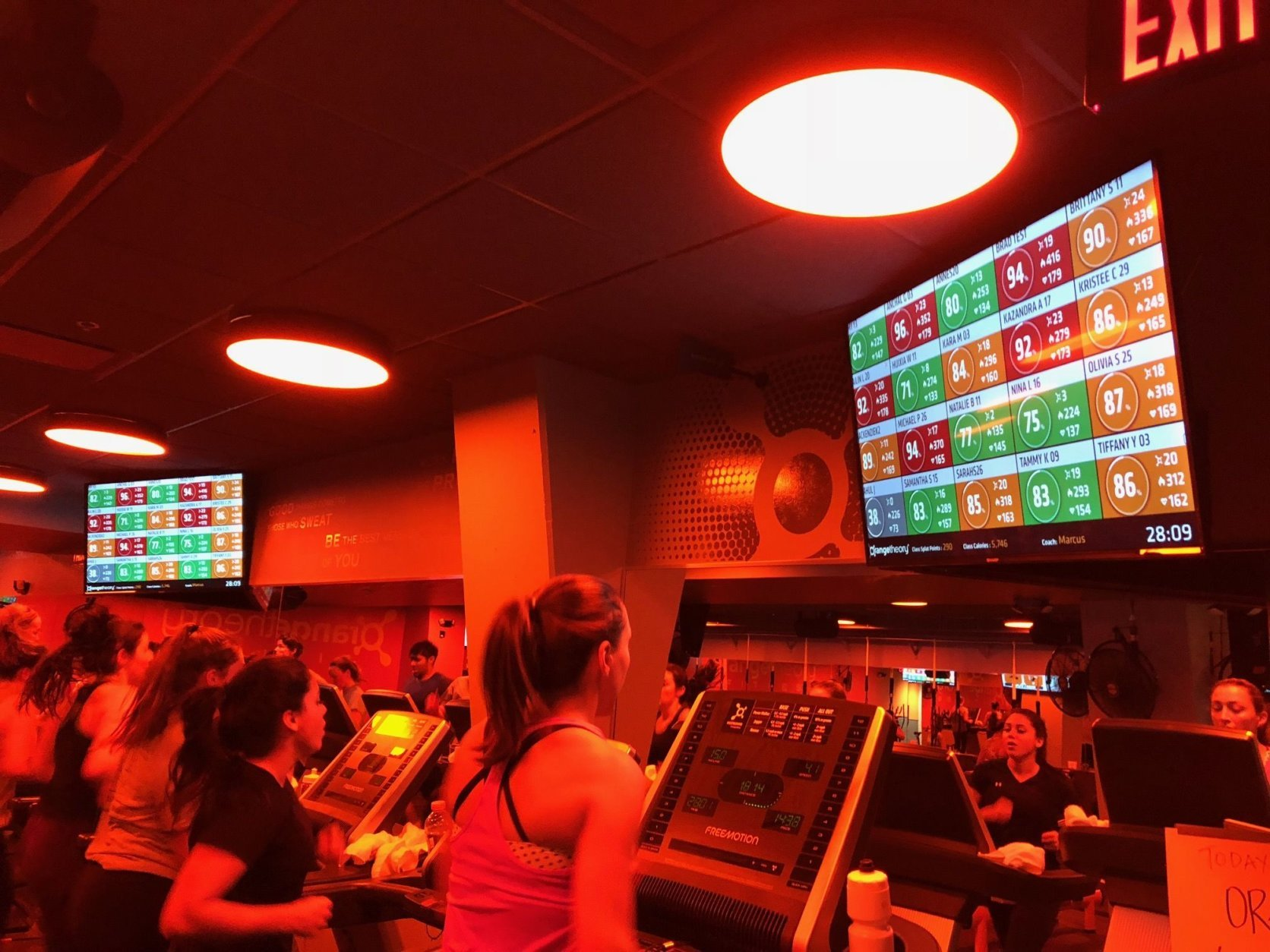 Orangetheory is known for its intense workouts. (WTOP/Dan Friedell)