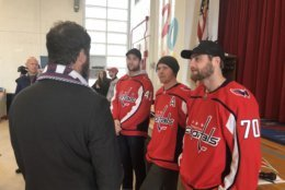 """The collaborative effort to fund the makeover by theHeart of America Foundationwill include Caps players and Elliot Segal of the """"Elliot in the Morning Show"""" donating $50 per Caps win during the regular season and $100 per Caps win during the playoffs. (WTOP/Kristi King)"""