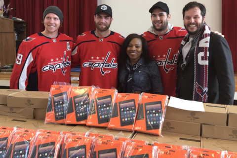 PHOTOS: Washington Capitals' visit at DC school came with some surprises