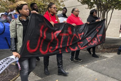 Protesters march after death of man who wasn't mall shooter