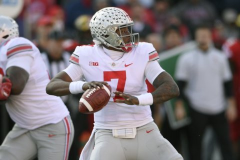 No. 9 Ohio State survives in OT, beating Maryland 52-51