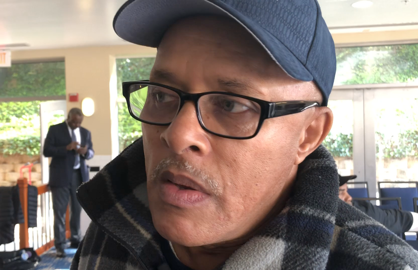 """""""Something real special happened inside of me"""" after the fire, said Ronald Starks El. """"I have my faith. And everything I've lost, it seems to be coming back rapidly."""" (WTOP/Kate Ryan)"""