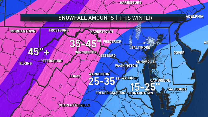 Brrrace Yourselves Dc Winter Weather Forecast Calls For Snow Big - Average-snowfall-us-map