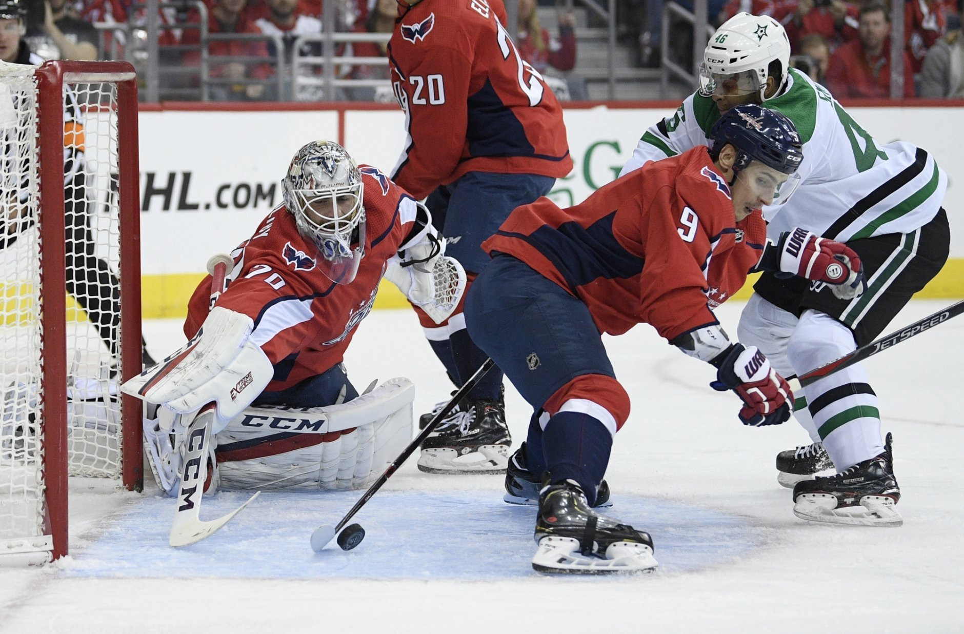 promo code e065a 2d886 Stars beat Capitals in OT for 3rd straight win | WTOP