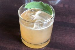 Packed with spicy, earthy, sweet and refreshing flavors, this cocktail compliments the bird, the pie, and all the sides served in between. (WTOP/Rachel Nania)