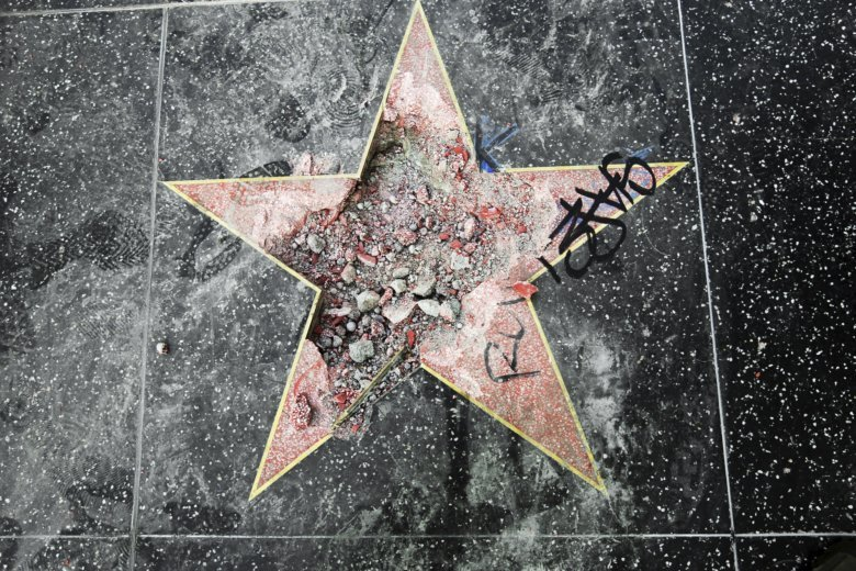 Man Sentenced For Vandalizing Trump's Hollywood Star With Ax