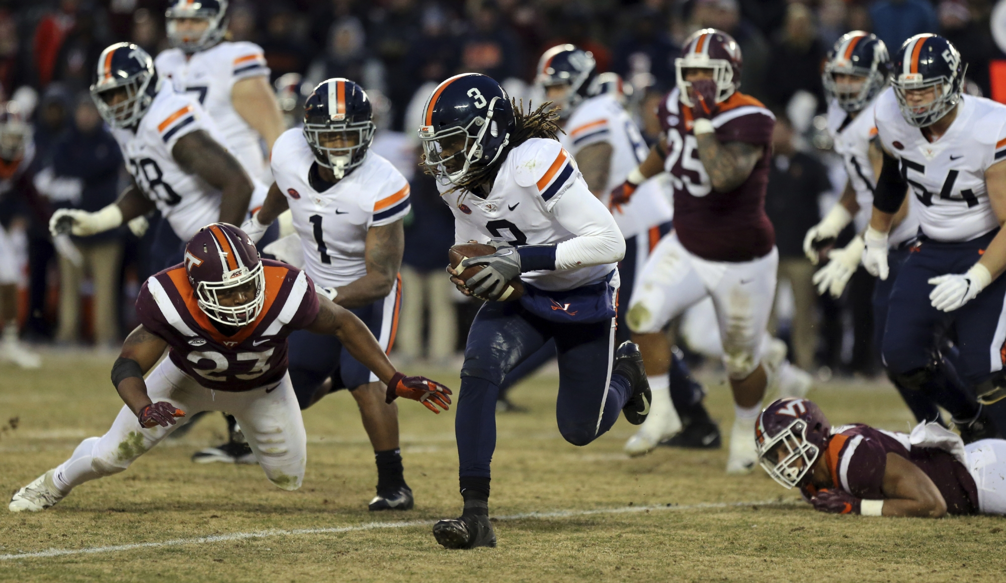 Uva Virginia Tech Football Preview No More Chasm In The