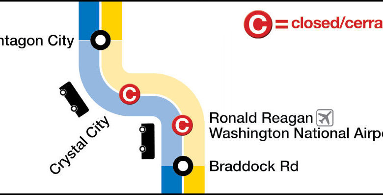 Wtop Track Work Guide Crystal City Reagan National Stops Closed