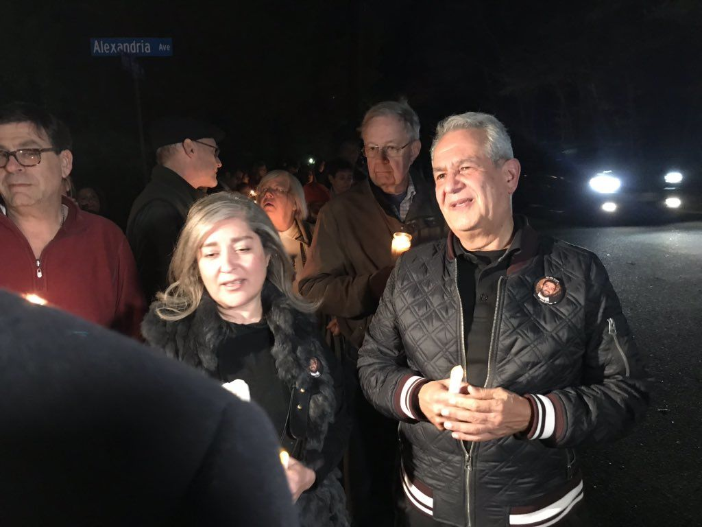 Ghaisar's parents were also at the vigil. The father, James Ghaisar, thanked people for coming on Thursday, Nov. 8, 2018. (WTOP/Michelle Basch)