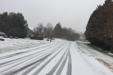 PHOTOS: 1st snow of the season hits DC region