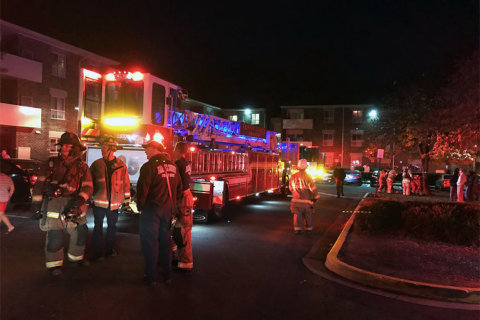 Apartment fire in Fairfax County sends four to hospital