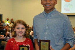 The contest winners were nine-year-old Natalie Nicholson and 12th-grader Jeffrey Maldonado. (Jeff Say, Culpeper Times)