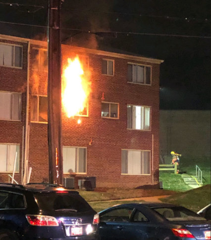 Firefighters Extinguish A Blaze On The Second Floor Of Montgomery County Apartment Building Friday Nov 16 2018 Courtesy Fire And