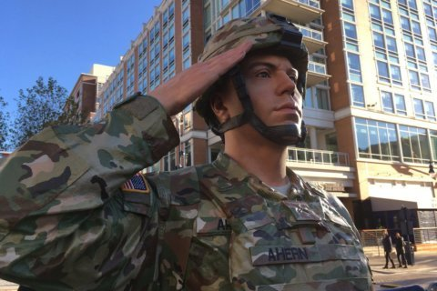 Veterans Day reveal at National Harbor honors US military with lifelike statues