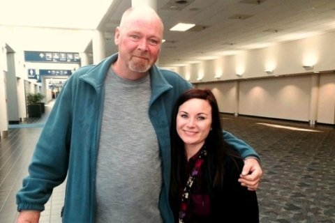 Woman meets her biological father after unexpected DNA test kit results