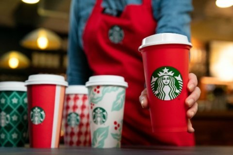 Starbucks to roll out holiday beverages, cups on Friday