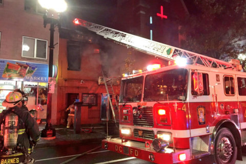 On windy night, DC firefighters fight flames at Shaw restaurant