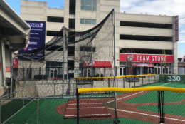 Preparation are underway at Nationals Park for the 2018 Winterfest. (WTOP/Mike Murillo)
