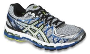 Police said they also found lbue and white size 11 Asics GEL-Kayano sneakers like these with the remains. (Courtesy Montgomery County police)