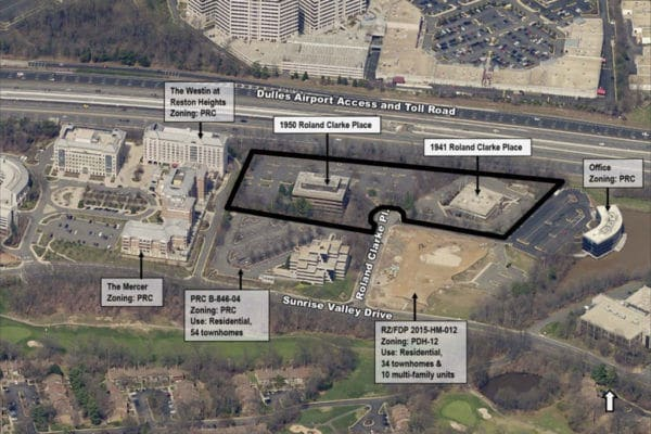 Map of the Roland Clarke redevelopment (Photo via Fairfax County Planning Commission)