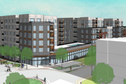 Concept rendering of the Roland Clarke redevelopment (Photo via Fairfax County Planning Commission)