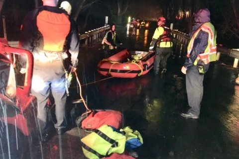 Record-breaking rain leads to water rescues, Md. sewer overflows