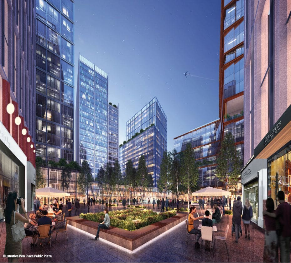 """A rendering of Amazon's planned development at the """"PenPlace"""" site in Pentagon City (Courtesy JBG Smith)"""