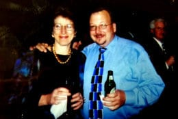 Judy Taub with WTOP Director of News and Programming Mike McMearty. (WTOP)