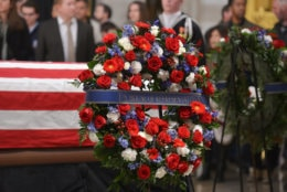 """A floral tribute to the late President George H.W. Bush who served as a member of the U.S. House of Representatives from Texas' 7th District from 1967-1971. (Courtesy Shannon Finney/<a href=""""https://www.shannonfinneyphotography.com/index"""" target=""""_blank"""" rel=""""noopener noreferrer"""">shannonfinneyphotography.com</a>)"""