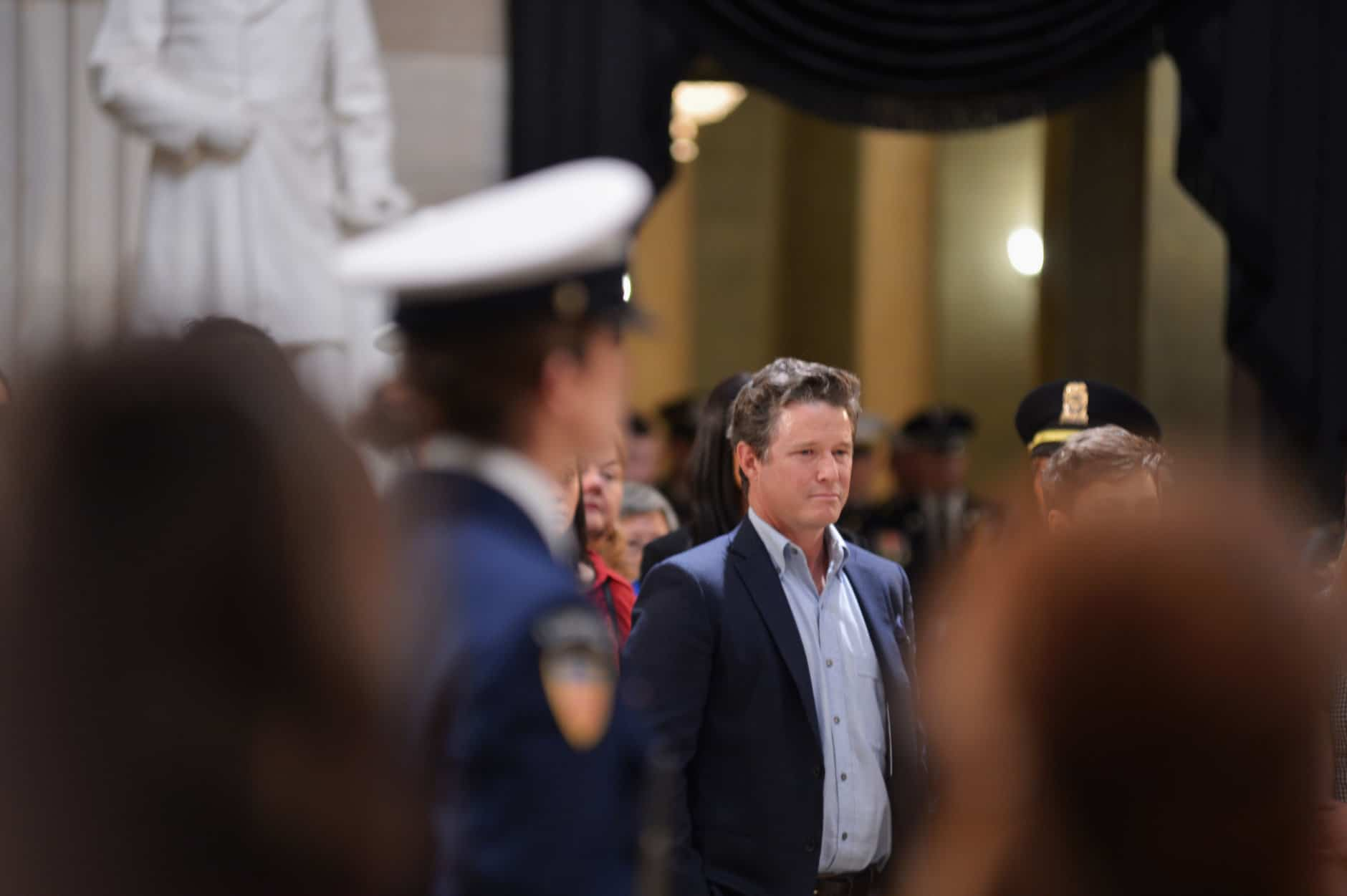 "Billy Bush, nephew of the late President George H.W. Bush, attends the lying-in-state on December 4, 2018. (Courtesy Shannon Finney/<a href=""https://www.shannonfinneyphotography.com/index"" target=""_blank"" rel=""noopener noreferrer"">shannonfinneyphotography.com</a>)"