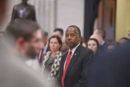 "Dr. Ben Carson, U.S. Secretary of Housing and Urban Development, attends the lying-in-state for President George H.W. Bush at the U.S. Capitol on December 4, 2018. (Courtesy Shannon Finney/<a href=""https://www.shannonfinneyphotography.com/index"" target=""_blank"" rel=""noopener noreferrer"">shannonfinneyphotography.com</a>)"