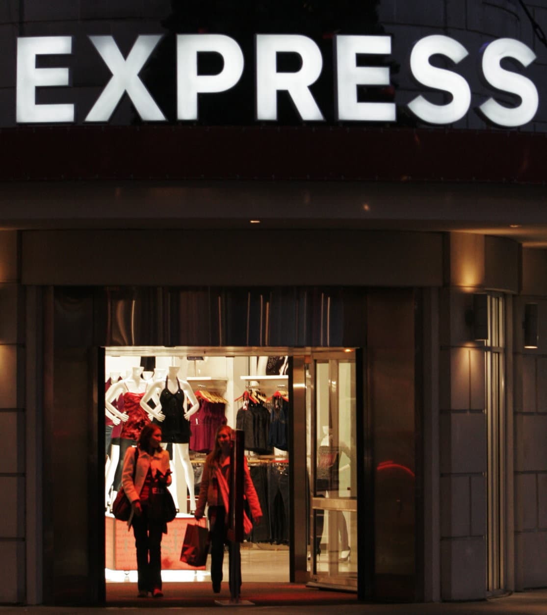 ** FILE **  In this Nov. 14, 2006 file photo, an Express store, a Limited brand, in Columbus, Ohio, is shown. Limited Brands Inc. on Tuesday, May 15, 2007, said it will sell a majority interest in its underperforming Express apparel brand and is considering options for its Limited Stores chain. Limited Brands, the operator of Victoria's Secret and Bath & Body Works, said it is selling 67 percent of its interest in Express to affiliates of private equity firm Golden Gate Capital for $548 million. The sale is expected to be completed by July. (AP Photo/Kiichiro Sato)