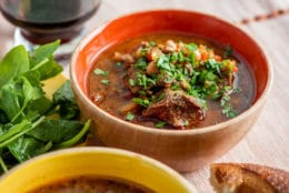 This August 2018 photo shows Instant Pot Mediterranean lamb stew. This dish is from a recipe by Katie Workman. (Cheyenne Cohen via AP)