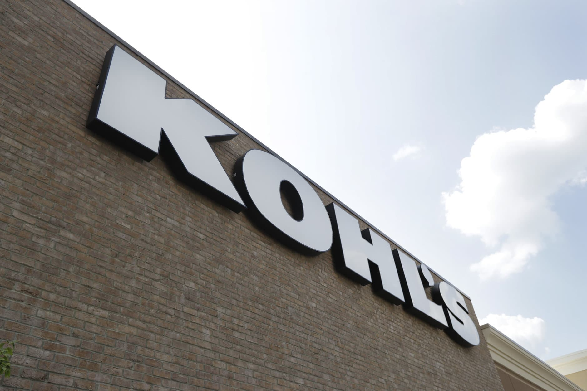 FILE - In this  Aug. 28, 2018, fie photo, a Kohl's sign is shown in front of a Kohl's store in Concord, N.C. Kohl's has mapped out where retailers like Bon-Ton and Sears shuttered stores so it can target those customers with specific ads. Kohl's believes one-third of its stores is benefiting from department store closings. (AP Photo/Chuck Burton, File)